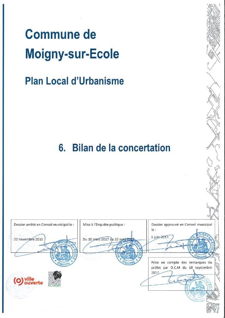 PLU-6.0.1 page de garde Bilan Concertation 6.1-6.4 dossier approuvé 18-09-2017