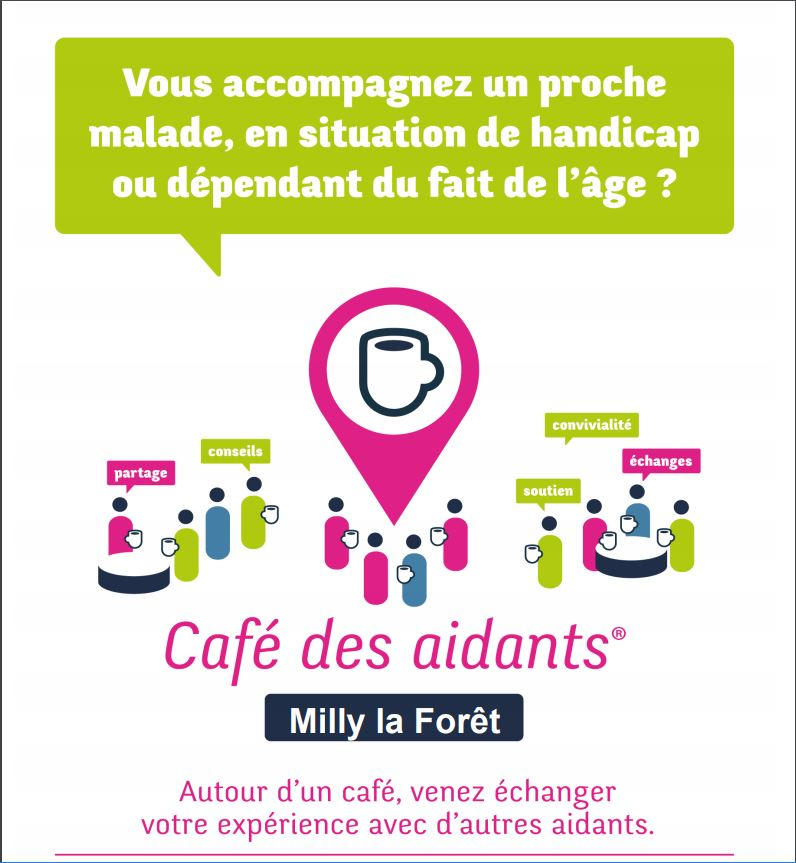 Le Café des aidants à Milly affiche
