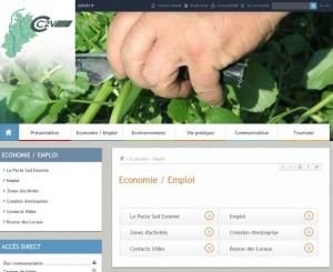 Vie economique Rubrique economie emploi CC2V site