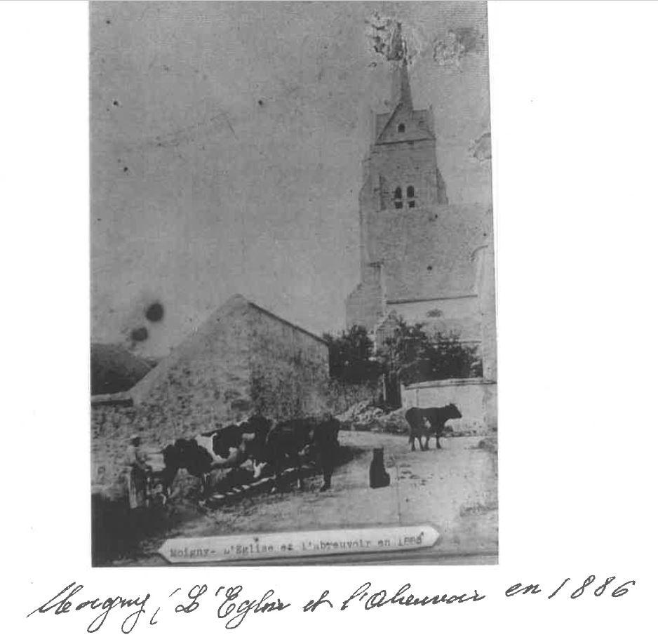 Lavoir Saint-Denis et abreuvoir carte postale ancienne