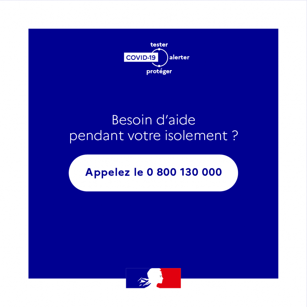 Consigne d'isolement Besoin d'aide