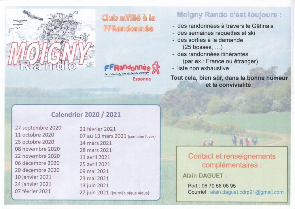 Moigny rando Affiche 2020-2021