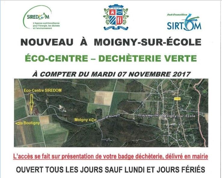 Eco-centre déchets verts Moigny Affiche