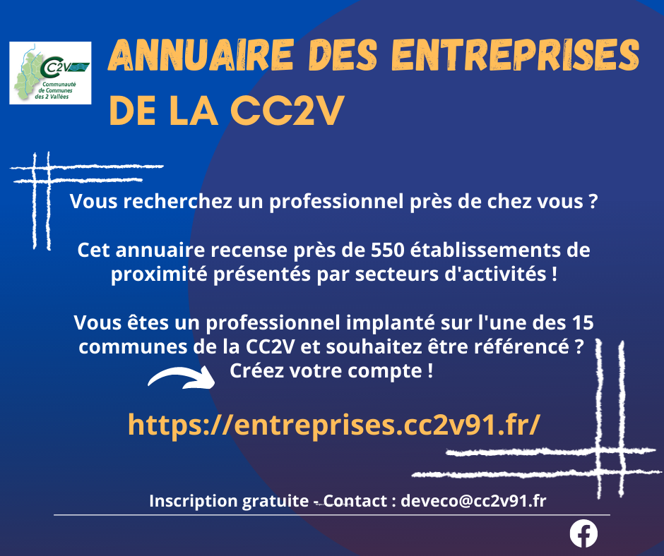 ANNUAIRE DES ENTREPRISES DE LA CC2V